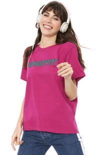 Camiseta Colcci Lettering Pink