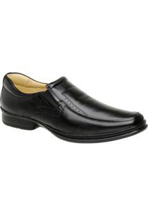 Sapato Rafarillo Conforto Couro Preto Tamanho Grande 9207 - Masculino