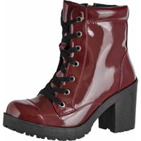 88d2be2b99dd5 Bota Bordo Verniz feminina   Shoes4you