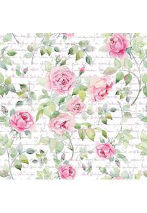 Papel De Parede Floral- Verde & Rosa- 300X0,58Cmjmi Decor