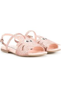 Stella Mccartney Kids Sandália Com Brilho - Rosa