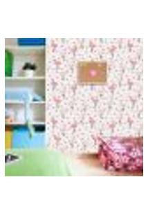 Papel De Parede Adesivo - Flamingos - Chevron - Infantil - 193Ppi