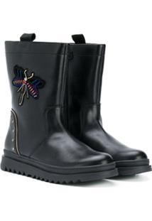 Geox Kids Ankle Boot 'Butterfly' - Preto