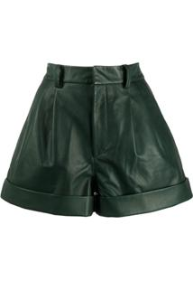 Isabel Marant Étoile Pleated Waist City Shorts - Verde