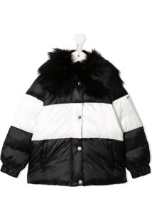 Emporio Armani Kids Colour Block Padded Coat - Preto