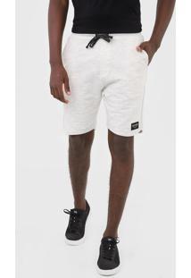 Bermuda Rip Curl Reta Sunday Fleece Off-White - Off White - Masculino - Dafiti
