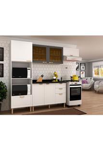 Cozinha Compacta Nevada Ii 6 Pt 4 Gv Branca E Grafite