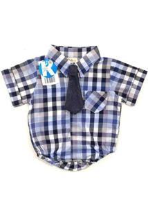 Body Infantil Kidin´S Camisa Masculino - Masculino-Azul