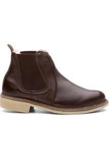 Bota Valente Boots Basic Cano Curto Elastico Masculina - Masculino-Cafe