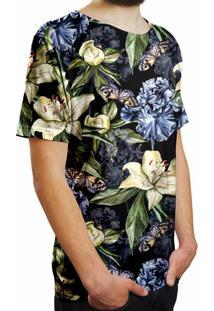 d7c9110d7 Camiseta Estampada Over Fame Floral Iris E Borboletas