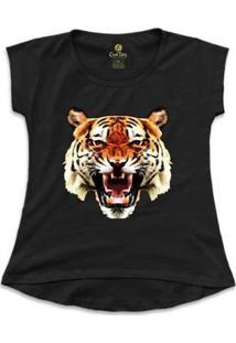 Camiseta Cool Tees Tigre China Town Feminina - Feminino-Preto