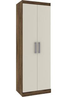 Armário Multiuso Com 2 Portas E 5 Prateleiras D020 – Rodial - Cacau / Champanhe