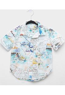 Camisa Infantil Gap Malha Surf Masculina - Masculino
