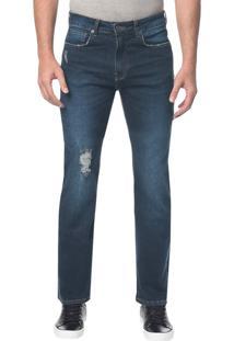Calça Jeans Five Pockets Ckj 037 Relaxed Straight - Marinho - 38