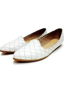 Slipper Comfort Bico Fino Bfprime Matalasse Branco