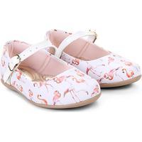 ac21f6cd5e Sapatilha Infantil Bella Ninna Flamingo Feminina - Feminino-Branco+Rosa