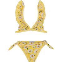 a6bca38af11f5 Farfetch. Monnalisa Daisy Print Bikini - Amarelo