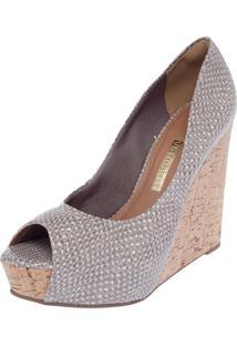 cd5f69d6d Peep Toe Bege Via Marte feminino | Shoes4you