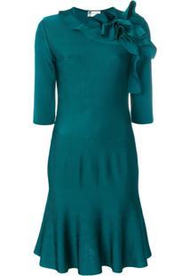 Lanvin Vestido Com Bainha Peplum - Azul