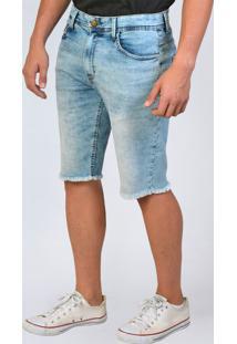 Bermuda Jeans Slim Básica Yck'S Azul - Kanui