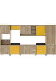 Cozinha Compacta Multimóveis Sicília 5832.132.695.610 Argila Amarelo Se