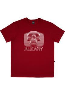 Camiseta Alkary Caveira 3D Vermelha