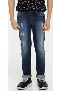 Calça Infantil Jeans Puídos Mr