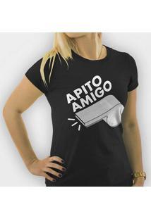 Camiseta Apito Amigo Feminina - Feminino 3325527ec5534