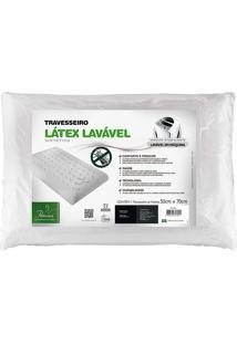 Travesseiro Látex Lavável Plus Sintético - Fibrasca - Bege