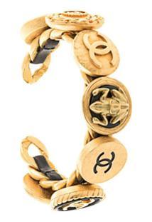 Chanel Pre-Owned Bracelete Com Logo - Dourado