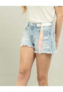 Shorts Miami Com Cinto Jeans - Lez A Lez