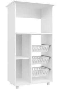 Armário Para Micro-Ondas Com Fruteira Gisele 1 Pt Branco