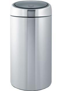 Lixeira Touch Bin- Inox & Cinza- 45L- Spicym.Cassab