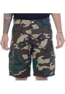 Bermuda Dc Shoes Walk Cargo Camo Verde / 38