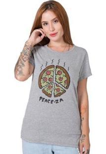 Camiseta Stoned Peace-Za Feminina - Feminino