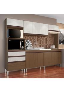 Cozinha Compacta Ariel 10 Pt 2 Gv Marrom E Gelo