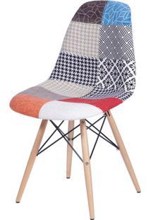 Cadeira Eames Patch Work Base Madeira - 25242 - Sun House