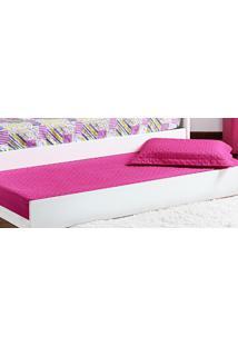 Cobre Leito Prático Solteiro Rosa Pink Matelado Com 2 Peças - Aquarela - Kanui
