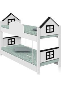 Beliche Infantil Casa Adesivada Preta Com Colchãµes Casah - Branco - Dafiti