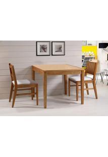 Conjunto Salvador 2 Cadeiras Estofadas Eucalipto Cor Verniz Jatoba 90 Cm (Larg) - 45905 - Sun House