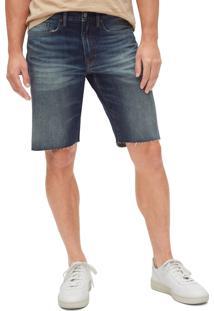 Bermuda Jeans Gap Reta Azul - Kanui