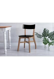 Cadeira Jantar Bella - Amêndoa E Preto 44X51X82 Cm
