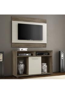 Rack Com Painel Para Tv Até 43 Polegadas 52146 Areia/Canela- Notavel