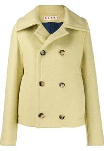 Marni Oversized Wool Collar Jacket - Amarelo
