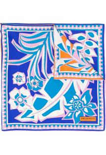 Emilio Pucci Echarpe Com Estampa - Azul