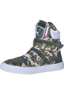 Sneaker Fitness Cheia De Marra 1001 Camuflado - Tricae