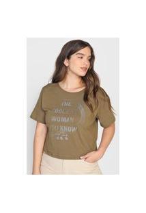 Camiseta Dimy Lettering Verde