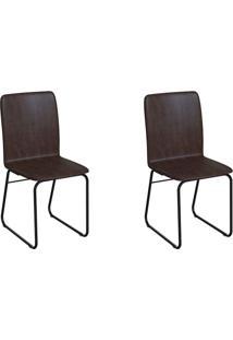 Conjunto Com 2 Cadeiras Hawke Tabaco E Preto