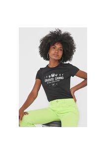 Camiseta Dimy Lettering Preta