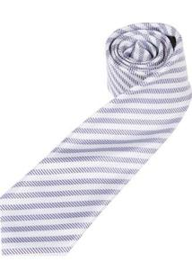 Gravata Colombo Masculina - Masculino-Branco+Azul